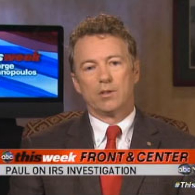 Rand Challenges Obama's 'Moral Authority' in the Wake of IRS Scandal