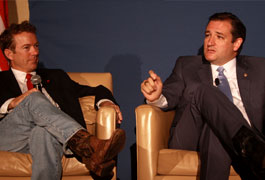 Rand Paul and Ted Cruz at 2013 Young Americans for Liberty National Convention