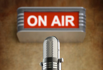 On air sign and microphone