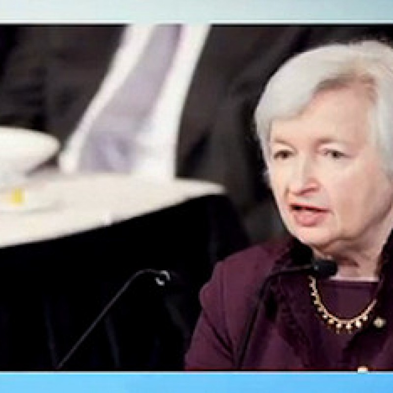 It was a Quiet Monday for Janet Yellen