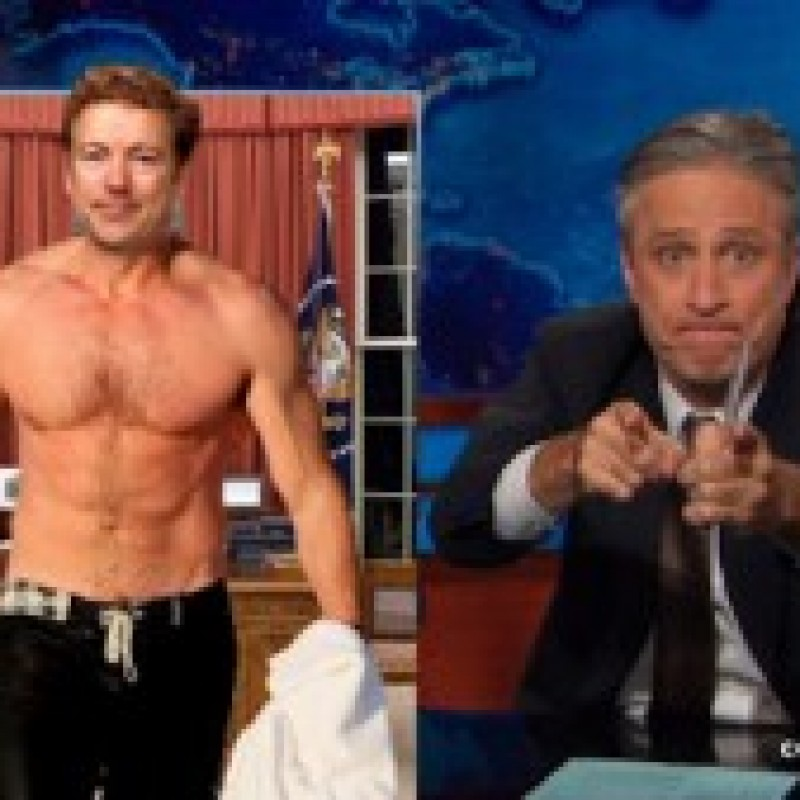 Jon Stewart Caught Rooting For President Rand Paul