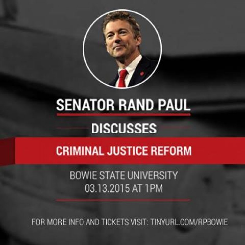 Criminal Justice Reform At Bowie State University – Mar 13th (MD)