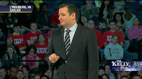 It's Red. It's White. What's That Behind Ted Cruz At Liberty University?