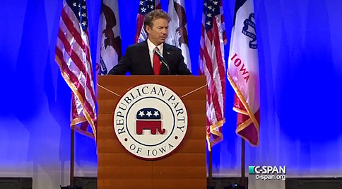 How Rand Paul Spent His 10 Minutes At The Iowa GOP Lincoln Day Dinner