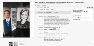 """Paul Sells Clinton's Book For $13,000 - """"A Great Work Of Fiction"""""""